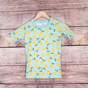 Hanna Andersson Organic Cotton Lemon Pajama Top